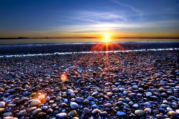 beach-pebbles-sunrise